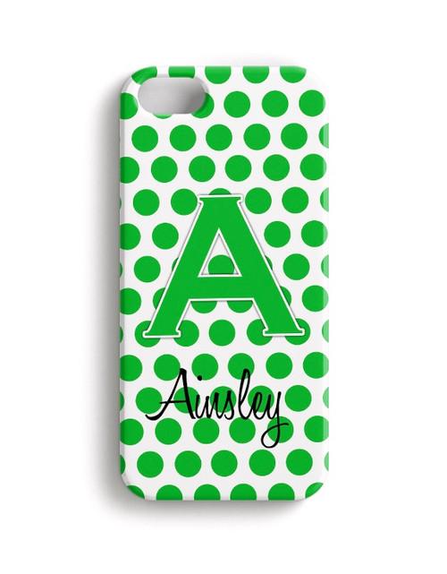 Green Polka Dots - Phone Snap on Case