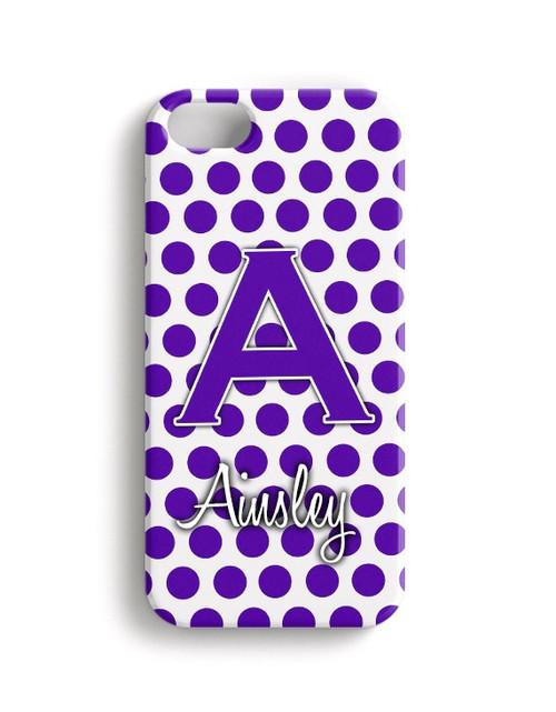 Purple Polka Dots - Phone Snap on Case