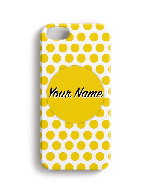 Yellow Polka Dots - Phone Snap on Case