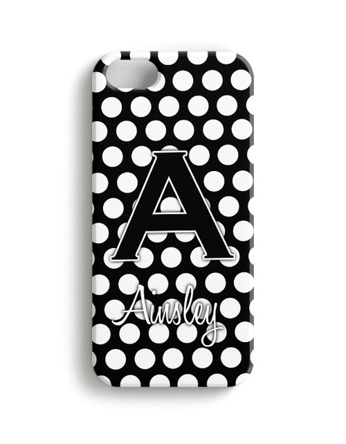 White Polka Dots - Phone Snap on Case
