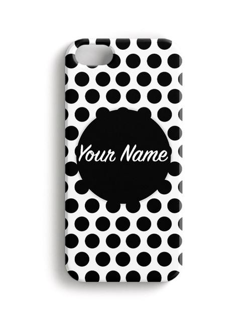 Black Polka Dots - Phone Snap on Case