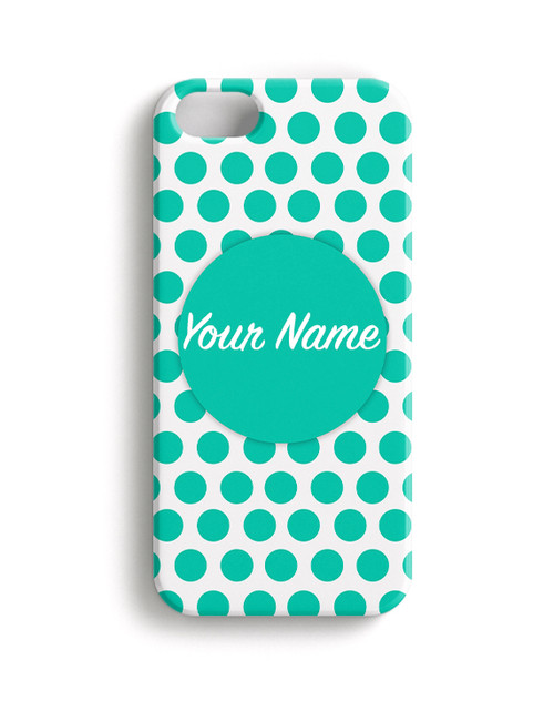 Teal Polka Dots - Phone Snap on Case