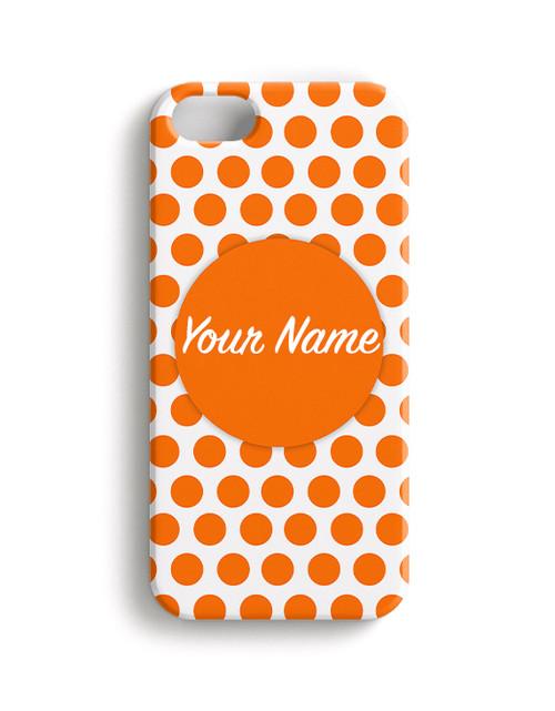 Orange Polka Dots - Phone Snap on Case