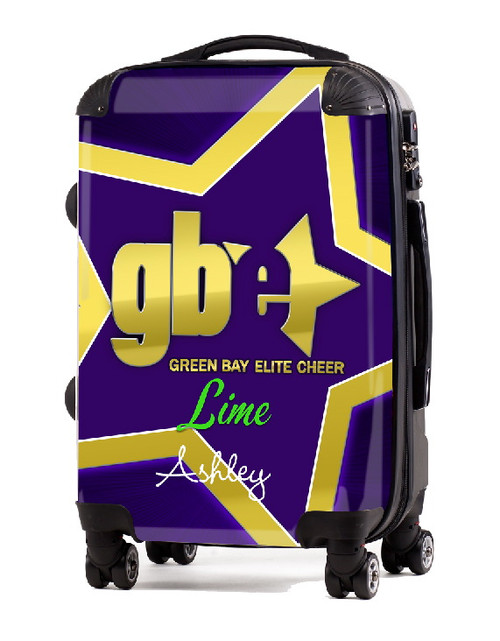 "Green Bay Elite Cheer LIME 20"" Carry-on Luggage"