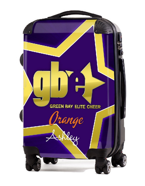 "Green Bay Elite Cheer ORANGE 20"" Carry-on Luggage"