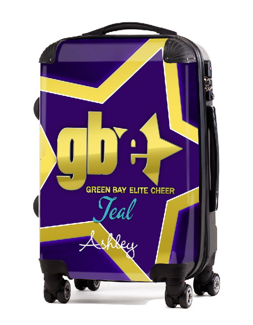 "Green Bay Elite Cheer TEAL 20"" Carry-on Luggage"