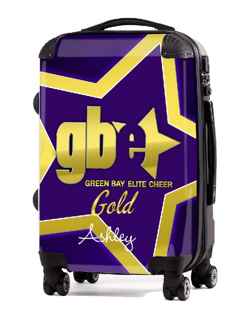 "Green Bay Elite Cheer GOLD 20"" Carry-on Luggage"