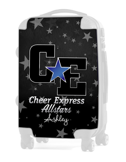 """Cheer Express All Stars - Dark Gray 20"""" Carry-on Luggage Insert"""