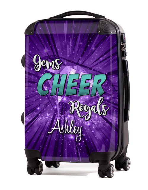 """Gems Cheer Royals 20"""" Carry-On Luggage"""