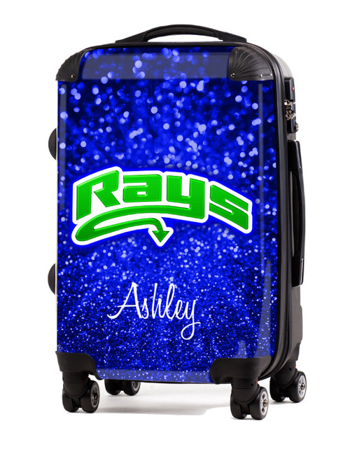 "Stingrays Allstars - Blue Glitter 20"" Carry-On Luggage"