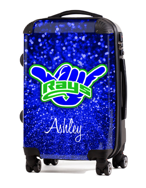 "Stingrays Allstars-Blue Glitter 2 - 20"" Carry-On Luggage"