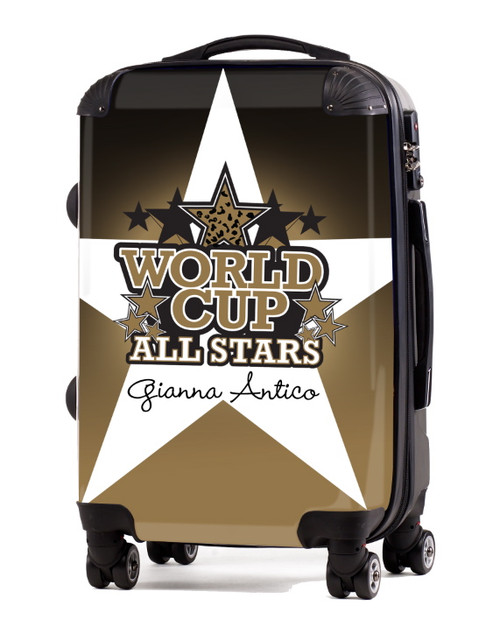 """World Cup All Stars 20"""" Carry-On Luggage-White"""