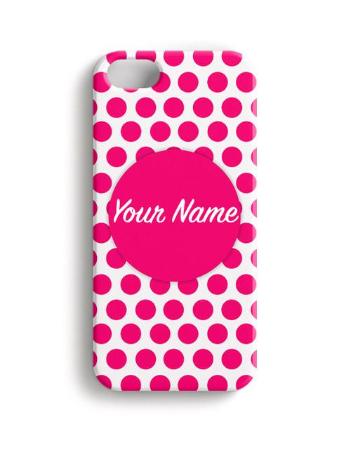 Fuchsia Polka Dots - Phone Snap on Case