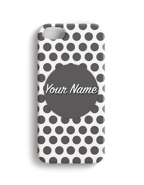 Gray Polka Dots - Phone Snap on Case