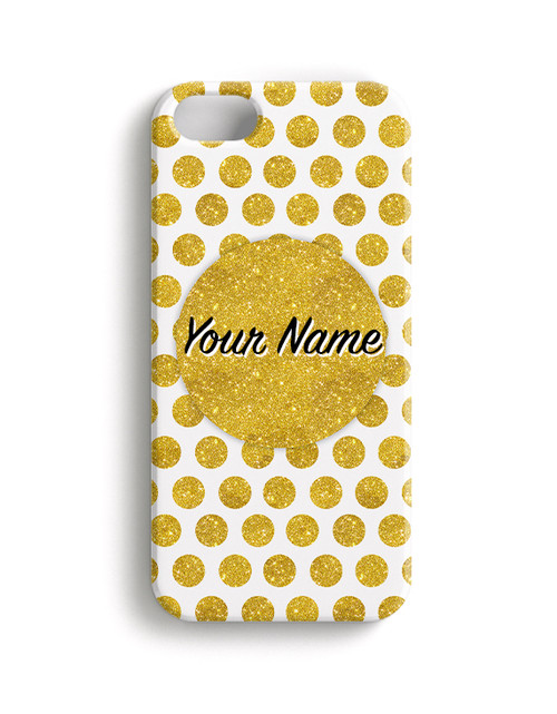 Gold Polka Dots - Phone Snap on Case