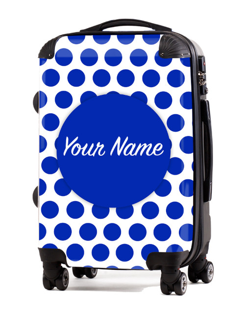 "Blue Polka Dots - 20"" Carry-On Luggage"