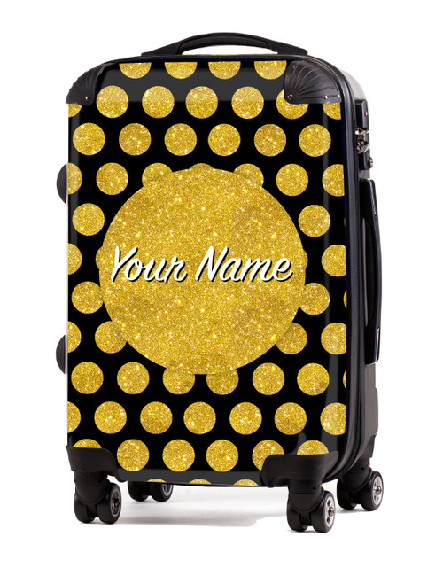 """Gold-Black Polka Dots - 20"""" Carry-On Luggage"""