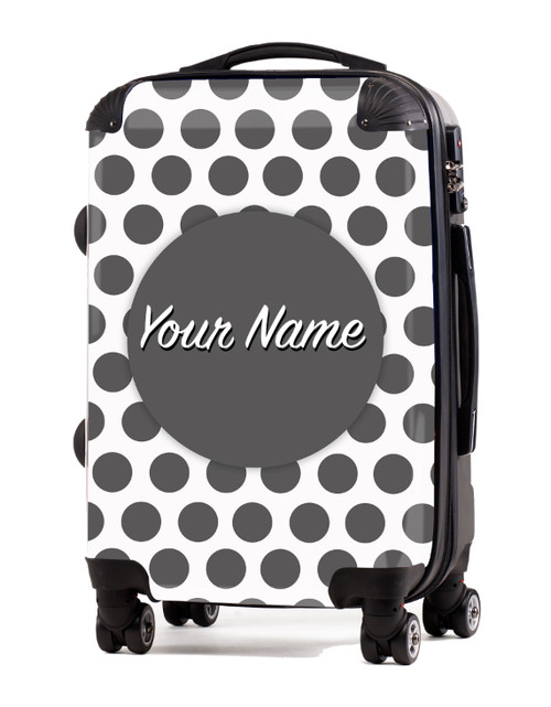"Grey Polka Dots - 20"" Carry-On Luggage"