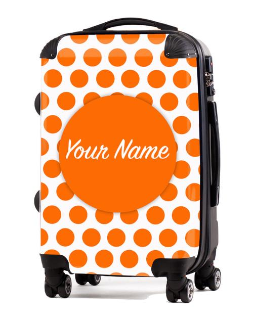 "Orange Polka Dots - 20"" Carry-On Luggage"