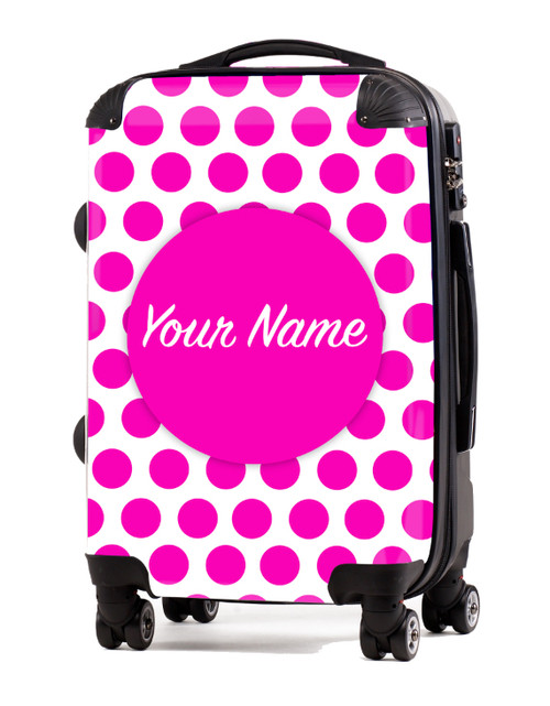 """Pink Polka Dots - 20"""" Carry-On Luggage"""