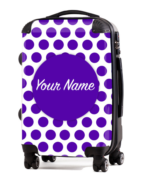 """Purple Polka Dots - 20"""" Carry-On Luggage"""