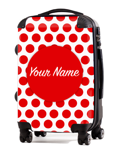 """Red Polka Dots - 20"""" Carry-On Luggage"""
