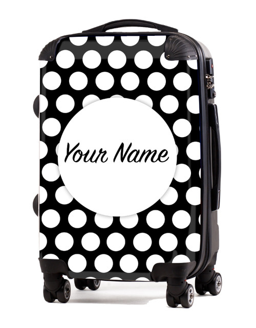 """White Polka Dots - 20"""" Carry-On Luggage"""