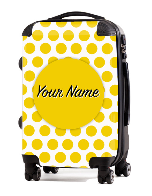 """Yellow Polka Dots - 20"""" Carry-On Luggage"""