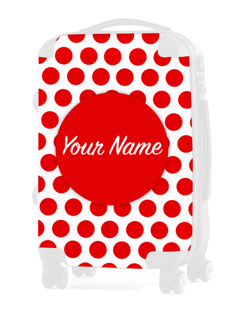 "INSERT for Red Polka Dots - 24"" Check-in Luggage"