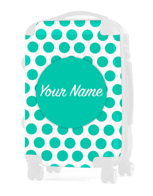 "INSERT for Teal Polka Dots - 24"" Check-in Luggage"