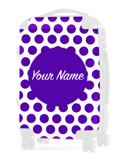"INSERT for Purple Polka Dots - 24"" Check-in Luggage"