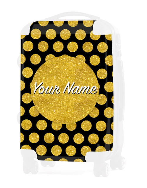 "INSERT for Gold-Black Polka Dots - 24"" Check-in Luggage"