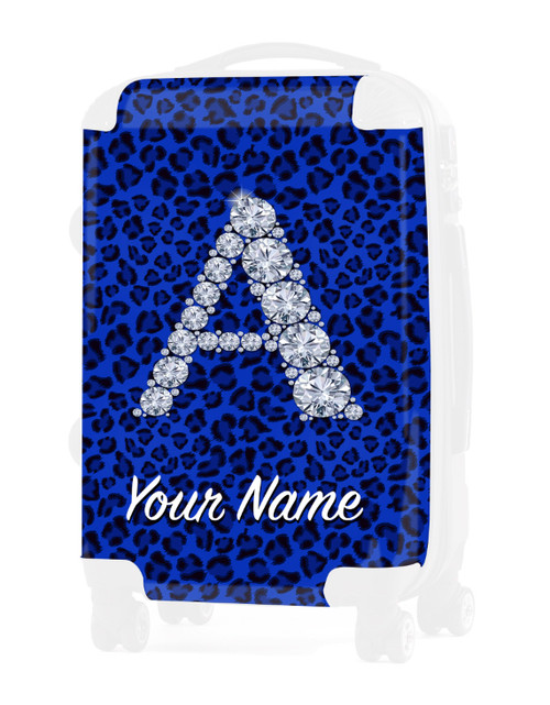 "Blue Cheetah - Graphic Insert for - 24"" Check-in Luggage"