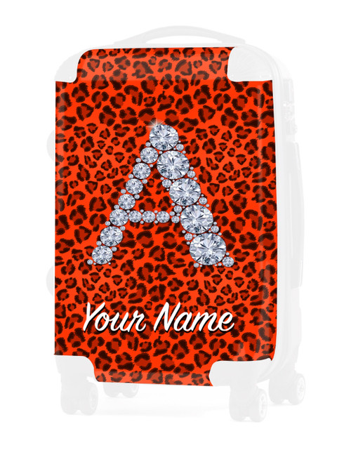 "Orange Cheetah - Graphic Insert for - 24"" Check-in Luggage"