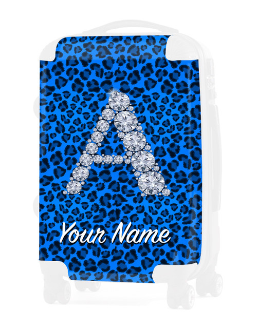 "Baby Blue Cheetah - Graphic Insert for - 24"" Check-in Luggage"