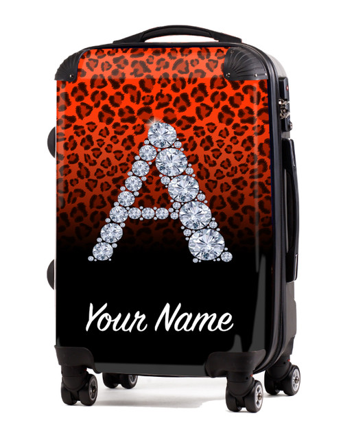 "Orange/Black Cheetah - 24"" Check-in Luggage"