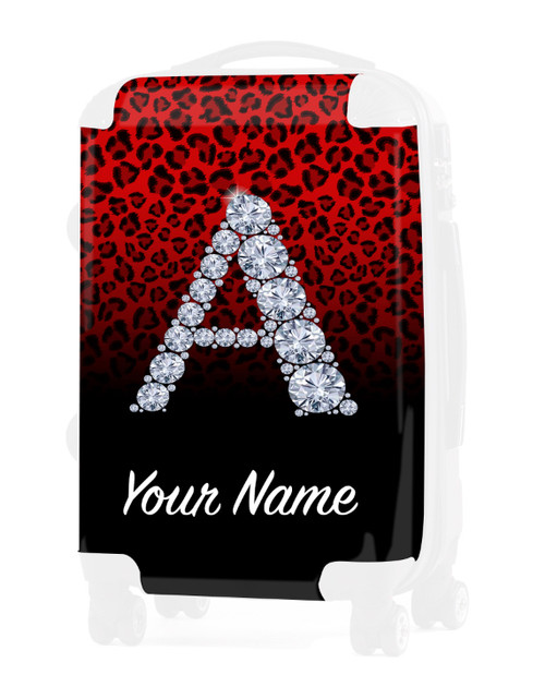 """Red/Black Cheetah - Graphic Insert for - 24"""" Check-in Luggage"""