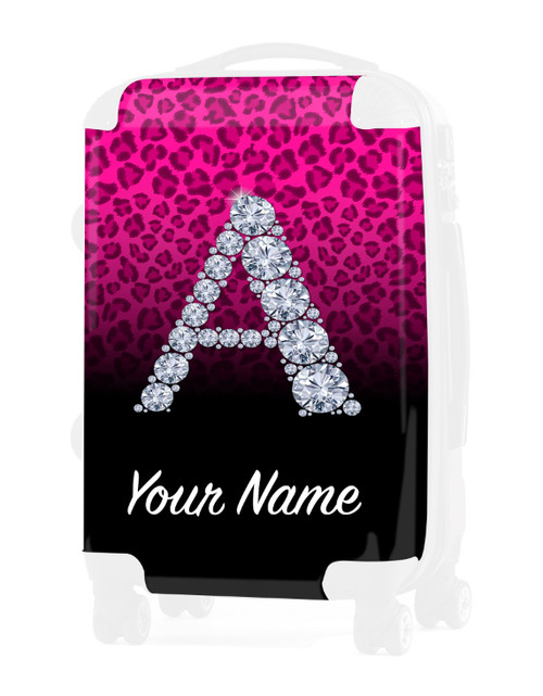 """Pink/Black Cheetah - Graphic Insert for - 24"""" Check-in Luggage"""