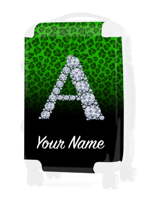 """Green/Black Cheetah - Graphic Insert for - 24"""" Check-in Luggage"""