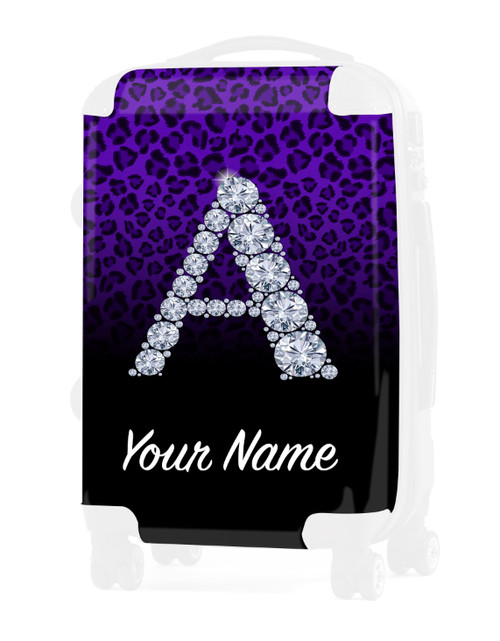 """Purple/Black Cheetah - Graphic Insert for - 24"""" Check-in Luggage"""