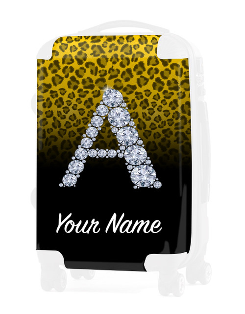 """Yellow/Black Cheetah - Graphic Insert for - 24"""" Check-in Luggage"""