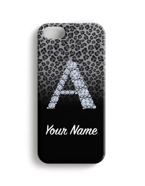 Grey/Black Cheetah - Phone Snap on Case