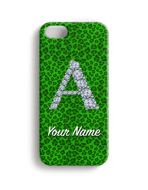 Green Cheetah - Phone Snap on Case
