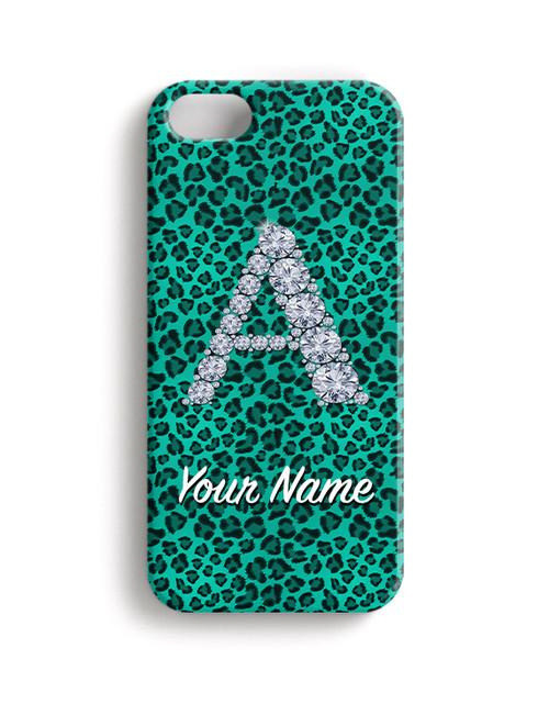 Teal Cheetah -  Phone Snap on Case