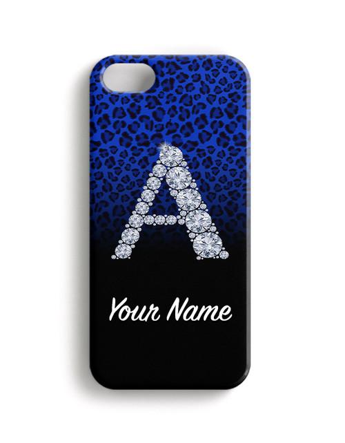Blue/Black Cheetah - Phone Snap on Case