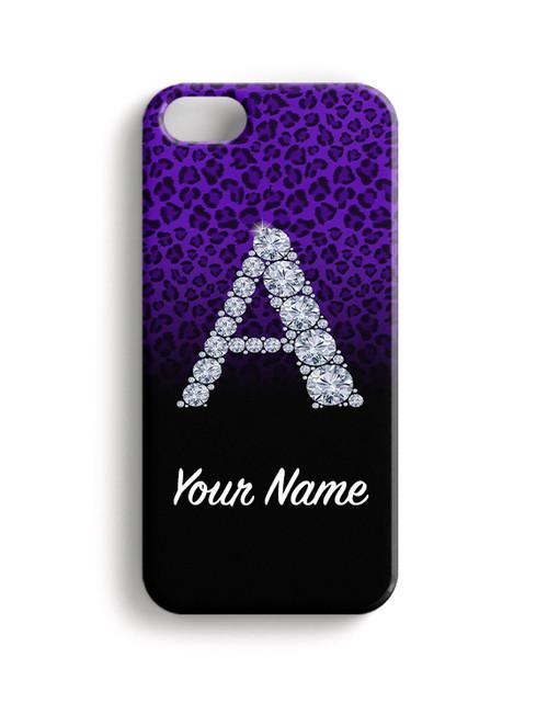 Purple/Black Cheetah - Phone Snap on Case