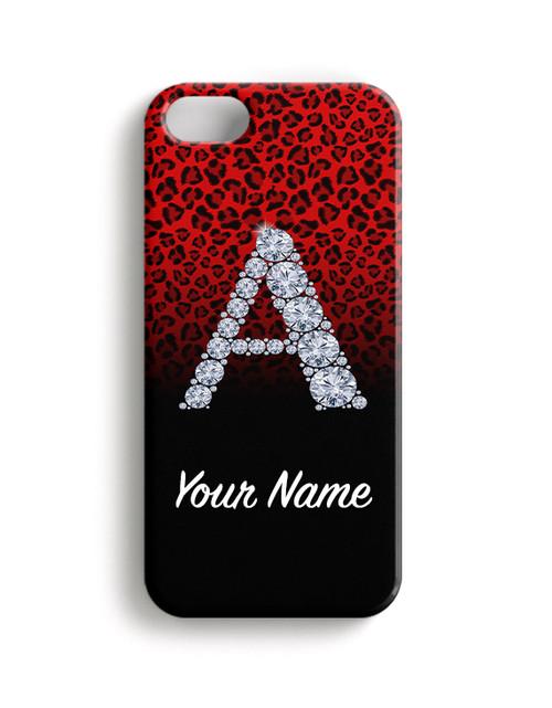 Red/Black Cheetah - Phone Snap on Case