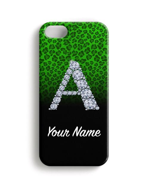 Green/Black Cheetah - Phone Snap on Case