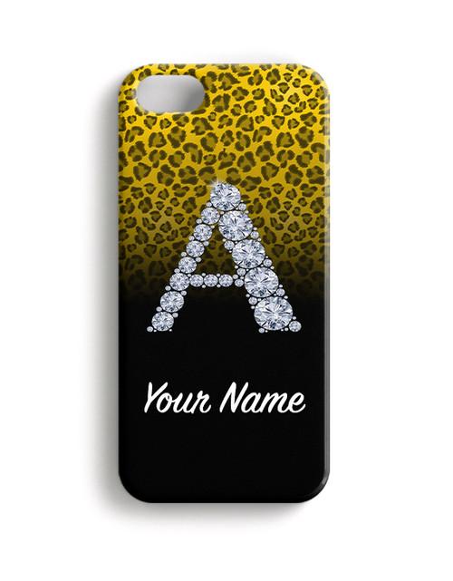 Yellow/Black Cheetah - Phone Snap on Case