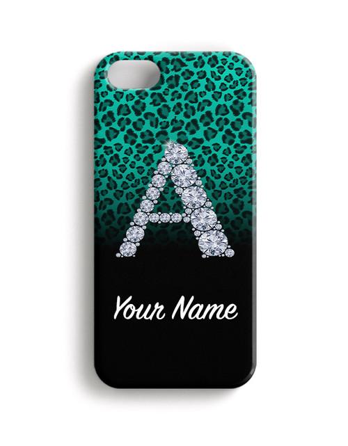 Teal/Black Cheetah -  Phone Snap on Case